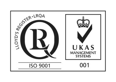 Logo: ISO 9001 - UKAS Management Systems 001